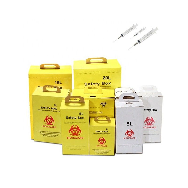 Yellow Color Medical Sharps Disposal , Sharps Waste Disposal Consumable